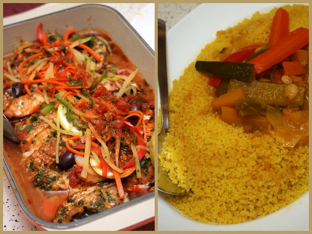 Moroccan Baked Fish with Couscous