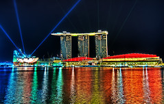 Marina Bay Sands  Singapore (Sprengben [why not get a friend]) Tags: world china city bridge wedding summer sky music newyork paris art water japan skyline clouds skyscraper observation hongkong lights tokyo bay harbor amazing rainbow nikon singapore asia warm ship shanghai sundown artistic gorgeous awesome watch hamburg elevator style casino divine international shoppingmall stunning metropolis charming foreign fabulous hdr englandlondon marinabay engaging travelphotography d90 photomatix singaporeflyer travellight d3s sprengben wwwflickrcomphotossprengben sprengbenurban sprengben2010singaporerobocupgoetheschuleasienasiatravel boatsands formulabay