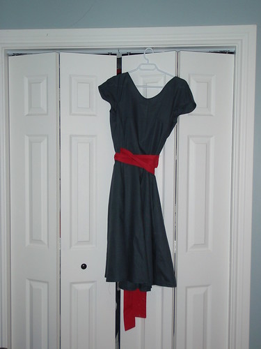 Front of crepe dress