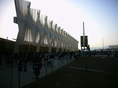 Athens 2004 Olympics Games, Greece (dimitra_milaiou) Tags: world life city shadow summer sky people art sports architecture night dark landscape greek grey lights design europe waves sony hellas athens tourist celebration greece calatrava summertime athina oaka dimitra hellenic dscp93a   globalinterest milaiou