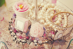 princess ({Jessica Louise}) Tags: pink flower fashion rose nikon candle princess pearls ring jewellery sparkle christiandior d40x