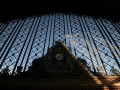 Madrid (CarloAlessioCozzolino) Tags: madrid sky clock station shadows ombre cielo orologio stazione spagna stazionediatocha