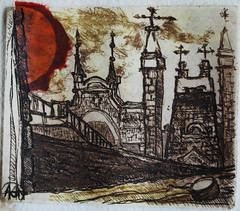 town (_aristova_) Tags: art painting town etching graphic pic chinecolle