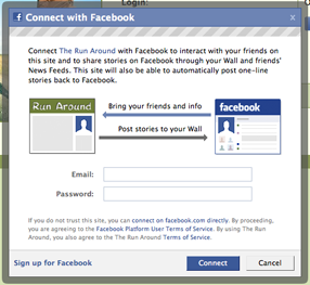 Facebook Connect - Dialog