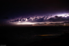 This is Australia (Jashil) Tags: ocean longexposure sunset sea storm clouds geotagged nikon purple dusk january australia 1870mmf3545g nsw newsouthwales thunderstorm lightning hastings 2009 portmacquarie lightningstrike lightroom electricalstorm d90 nikkor1870mmf3545g tackingpoint nikond90 geo:lon=152936997 geo:lat=31475689 d90200901246817 shellfcloudarcuscloudrollcloud