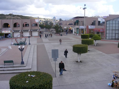 The first large plaza that tourists walk into in Tijuana.