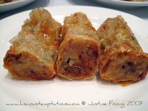 Deep Fried Stuffed Beancurd Sheets - Yung Kee, Hong Kong