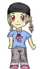 girl (a3fene_q8) Tags: school anime art girl cartoon manga     dawing
