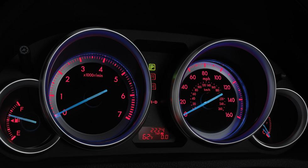 Mazda 6 Electroluminescent gauges feature