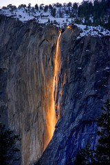 FireFall_Yosemite_HDR.jpg (YOSEMITEDONN) Tags: perfect photographer yosemite hdr horsetailfalls the firefall blueribbonwinner goldstaraward