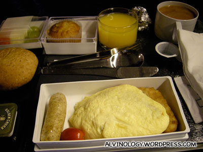 My Western airplane meal