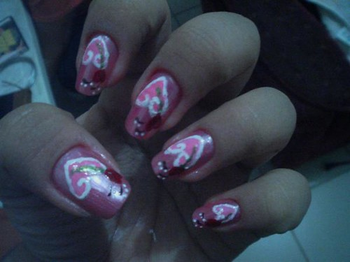 nail art design, Valentine Nail art