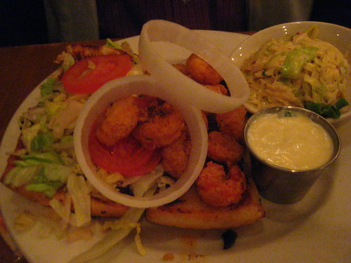 heaven on seven shrimp po' boy