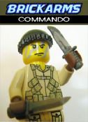 Brickarms custom minifig commando and combat knife