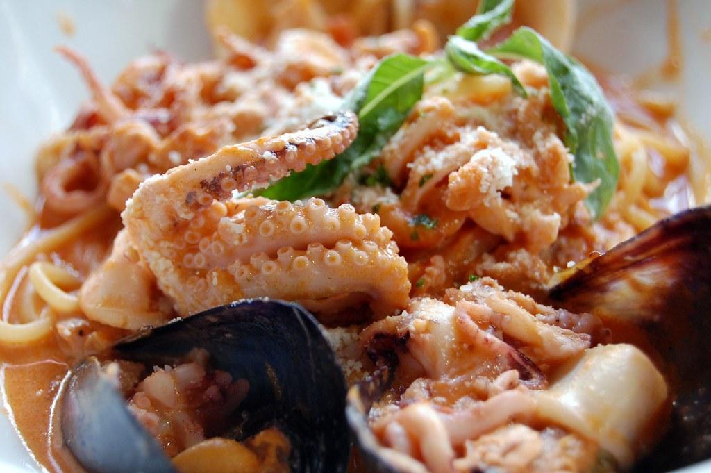 Spaghetti frutti  de mare - Saverios Tijuana BC Mex
