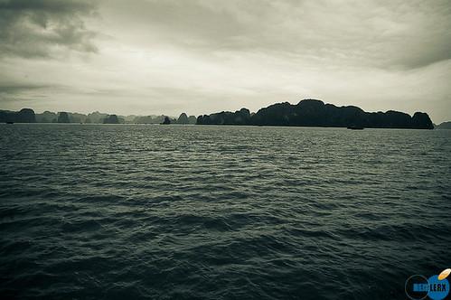 Halong Bay in B&W