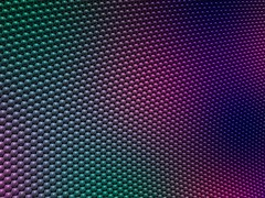 Sphere packing color gradient detail (fdecomite) Tags: color circle spectrum geometry packing sphere math gradient povray tangency