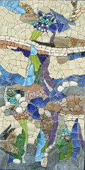 Greetings to Ilana (stiglice - Judit) Tags: abstract mosaic mixedmedia wallart mosaicchallenge mosaichallenge
