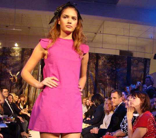 PED Runway Show: Pink Madison dress by Lara Miller