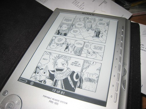 manga on Sony eBook reader