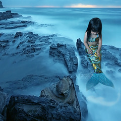 Magic above the blue (lancelonie) Tags: blue halloween fairytale rocks mermaid magical sophia collaboration happyhalloween littlemermaid oceanblue bluesea blueocean searocks bluemermaid oceanrocks babymermaid lplater lanceloniephotography neloniecrelencia magicalmermaidinoceanimage