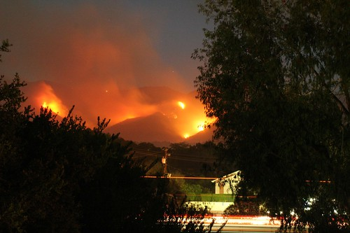 Jesusita Fire Photos from Hollister Road