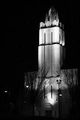 Downtown church (perry.travis) Tags: white black calgary church night canon dark downtown religous xti