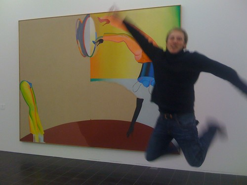 Chris Jump in Front of Art