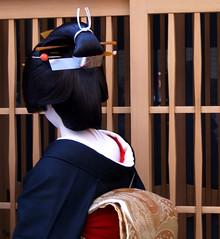 Kimika's Erikae (fuyou-hime) Tags: maiko geiko geisha kimono obi miyagawacho bijin erikae kimika nihongami