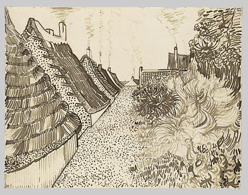 pen-ink-vangogh-landscape-pattern-impressionism