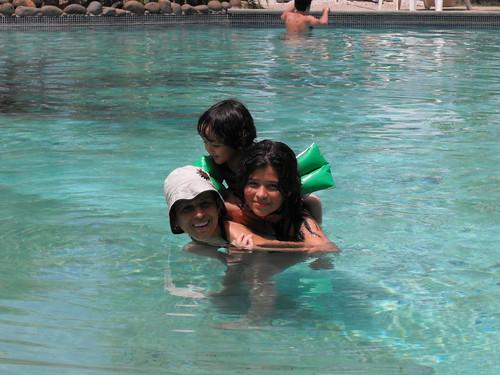 Tortugos en la piscina