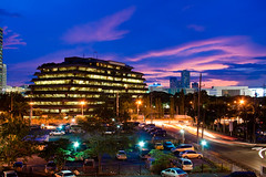 Evening @ Ortigas Center (WetCraft) Tags: blue sunset sky slr night dusk philippines kitlens wicked hour jerome longshutter pinoy chua ortigas canonslr eos350 canon50d jeromechua