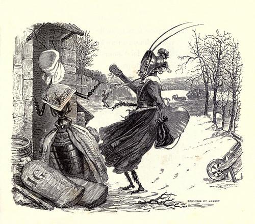 001- La cigarra y la hormiga-Fabulas La Fontaine-J.Grandville