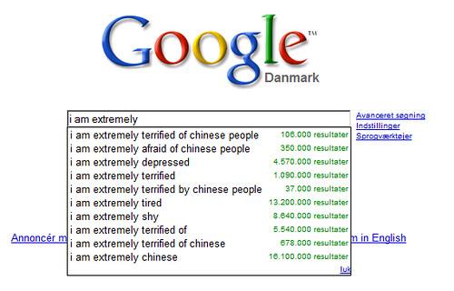 Google autoforslag...