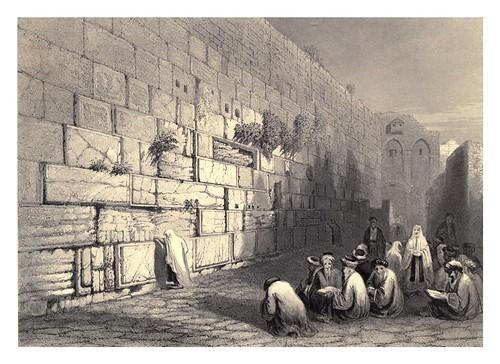 011- El muro de las lamentaciones-Jerusalem-Bartlett, W. H. 1840-1850