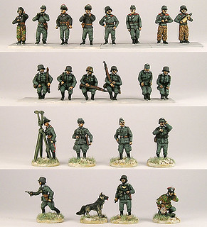 20mm Warmodelling German Tank Crews, Drivers and Staff