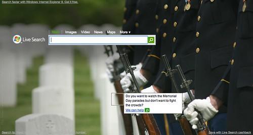 Live.com Memorial Day Logo