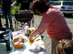 Jacqi cooking at summer camp