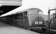 "D827 ""Kelly"" at Bristol Temple Meads, 1962 (rugd1022) Tags: bristol temple br diesel swindon class kelly 1962 42 warship wr hydraulic meads d8xx d827"