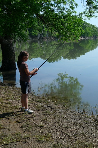 Cody fishing