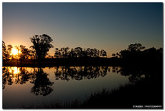 The Best Way To Predict The Future Is To Invent It (Sam Ili) Tags: blue sunset sky sun color reflection tree water silhouette canon pond australia symmetry canberra explored 450d canberrasunset redbubble canon24105mm4