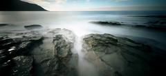when time happens: grey river (i) (thescatteredimage) Tags: iso100 holga kodak australia victoria greatoceanroad 2009 ektar greyriver nd08 holga120wpc 120wpc wideanglepinholecamera