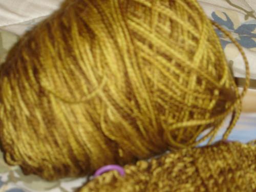 Karma Tank knit with Sundara Brown Sugar Over Buttermilk