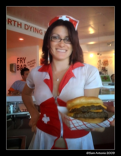 heart attack grill logo. Heart Attack Grill Nurse