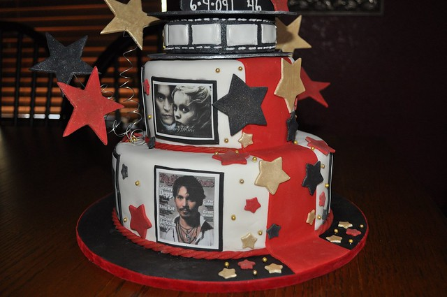 Johnny Depp Birthday Cake by the sweet life creations