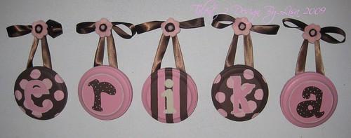 "ERIKA 5"" Round Custom Hand Painted Letters"