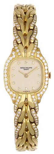 Ladies Patek Philippe LaFlamme Gold & Diamond Watch