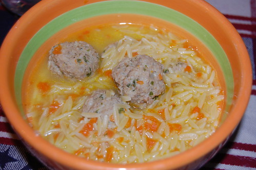 Meatball and Orzo Soup