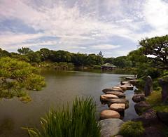 Pond Stepping Stones In Kiyosumi Garden (aeschylus18917) Tags: park trees lake japan garden tokyo japanesegarden pond nikon stones d   steppingstones nikkor japanesegardens   2485mm  nihonteien kiyosumigardens d700  f2840  2485mmf2840d danielruyle aeschylus18917 danruyle druyle 2485mmf2840   kiyosumishirakawastation nikkor2485mmf2840d