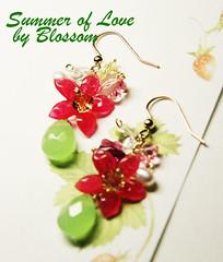 summer of love -earrings